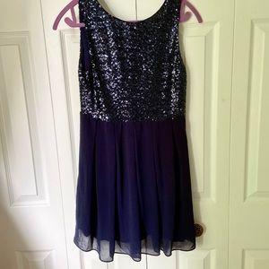 Sparkly navy dress